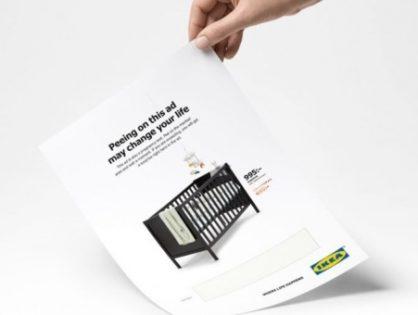 IKEA выпустила рекламные листовки, которые работают как тест на беременность