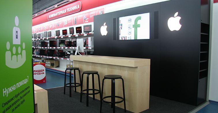 «М.Видео» откроет в своих магазинах авторизованные сервисные центры Apple