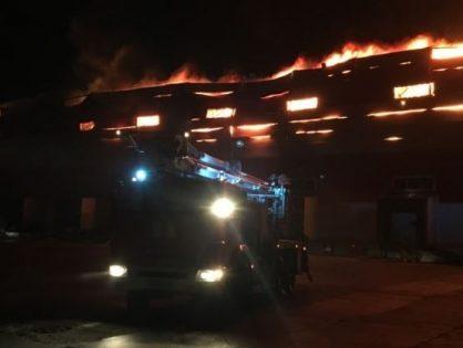 В Воронежской области сгорел распределительный центр «Магнита»
